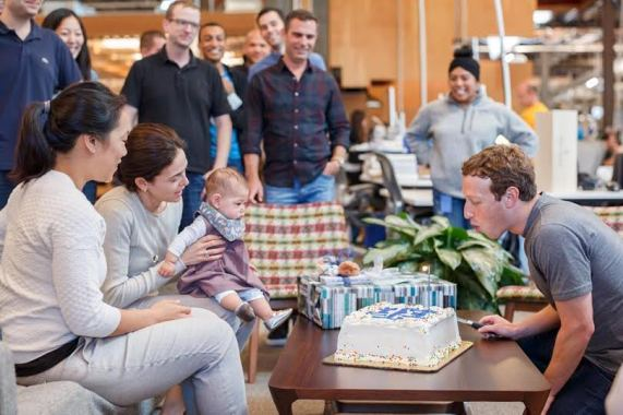 Mark Zuckerberg celebrates his 32nd birthday