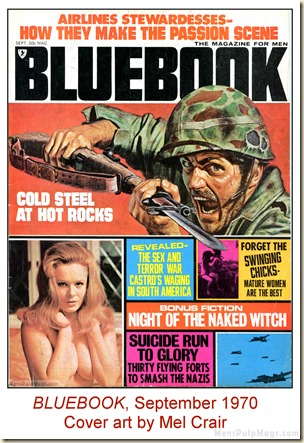 BLUEBOOK, Sept 1970, cover art by Mel Crair WM