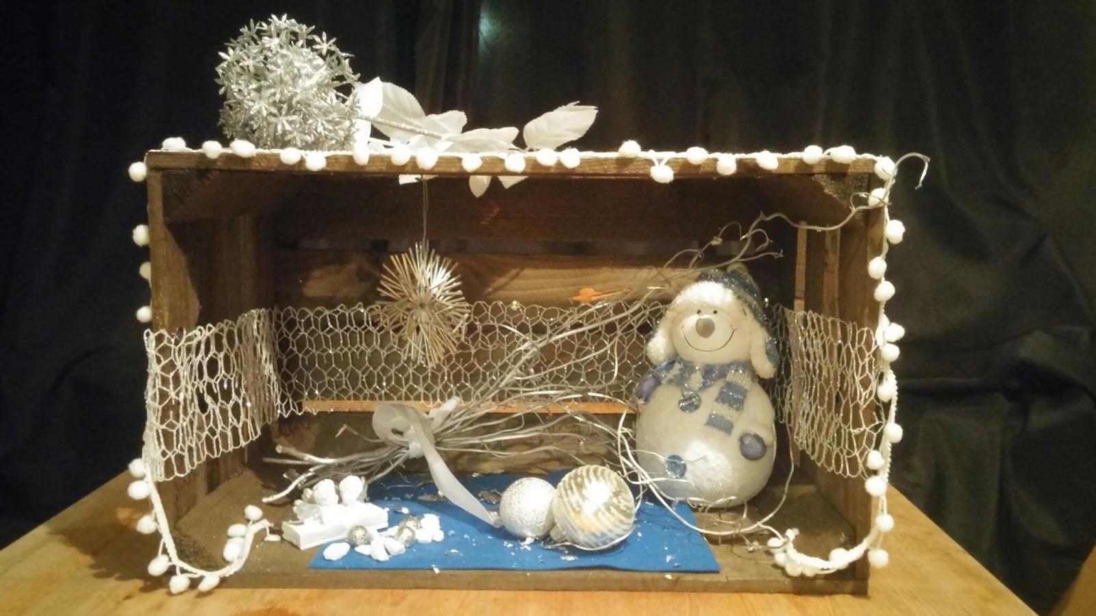 Fabelhaft Weinkisten Weihnachtlich Dekorieren Galerie Von In Den Farben Weiß, Silber Und Blau,
