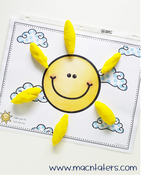 Sun Playdough Mat