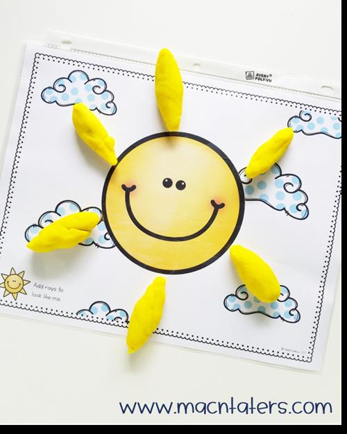 Sun Playdough Mat