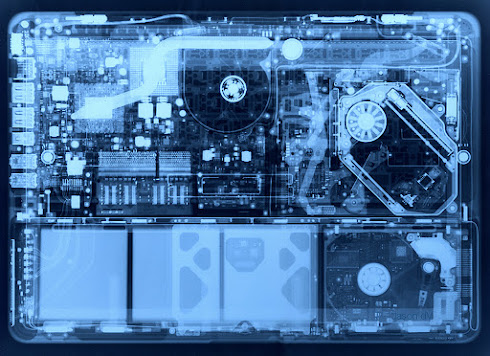 알루미늄 맥북 X  레이 사진