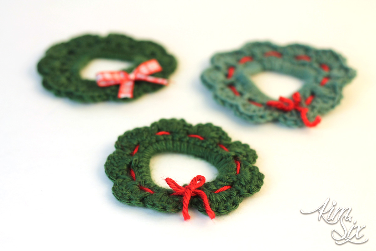 Simple crocheted wreaths