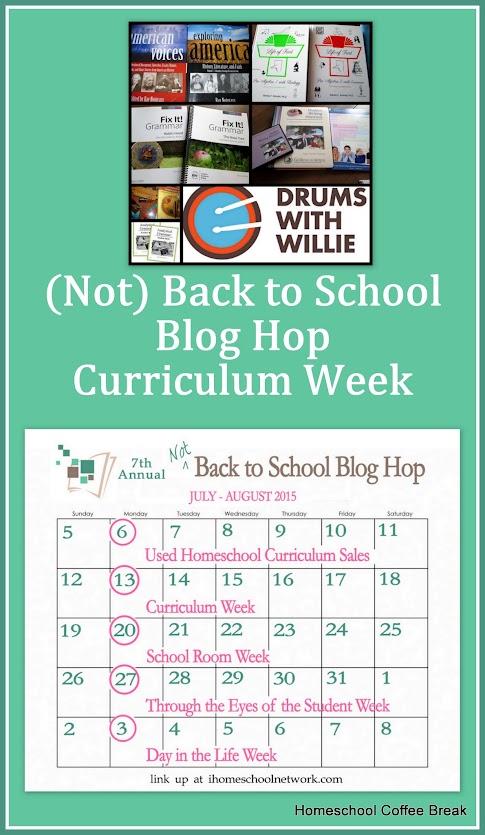 (Not) Back to School Blog Hop - Curriculum Week on Homeschool Coffee Break @ kympossibleblog.blogspot.com