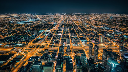 Find the Right Path Chicago, IL  Shooting from high above Chicago at the top of the Willis (Sears) Tower...