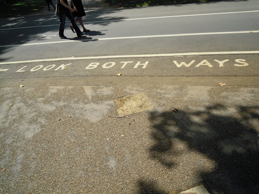 Look both ways! Be careful when crossing the road in London!