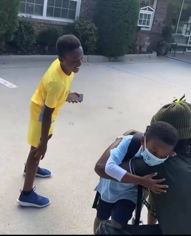 Paul Okoye 'Rude Boy' shares video of him meeting his kids after school in United States amid divorce saga