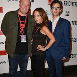 OIC - ENTSIMAGES.COM - Dominic Brunt, Joanne Mitchell  and Zach Moore at the Film4 Frightfest on Saturday    of Bait  UK Film Premiere at the Vue West End in London on the 29th August 2015. Photo Mobis Photos/OIC 0203 174 1069