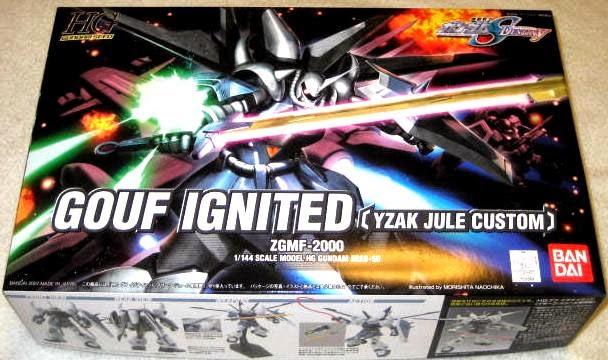 Đồ chơi Lắp ghép Gouf Ignited Yzak Jule Custom HG Gundam Seed tỷ lệ 1/144 dành cho trẻ trên 8 tuổi