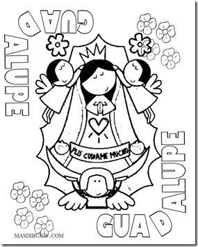 Caricaturas De La Virgen De Guadalupe Para Colorear Mas Dibujos