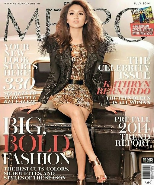 kathryn bernardo metro magazine july 2014 cover