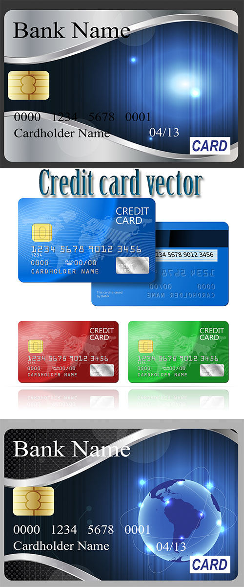 Stock: Credit card vector