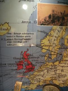 Госпорт. Музей Подводных Лодок. Карта Первой Мировой Войны.