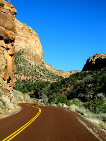 Utah Highway 9 through Zion National Park