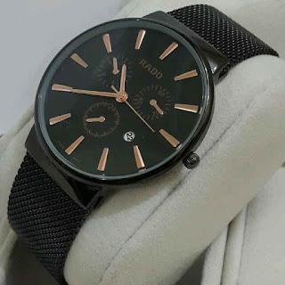jam tangan Rado tgl rantai pasir full black