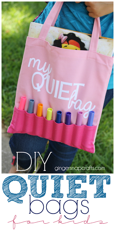 DIY Quiet Bags for Kids at GingerSnapCrafts.com #diy #kids #kidcrafts