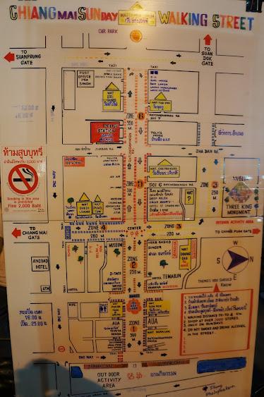 Chiang Mai night market map