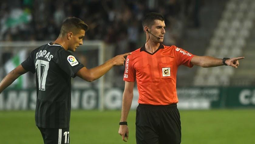 Corpas y Moreno en el partido de El Arcángel.