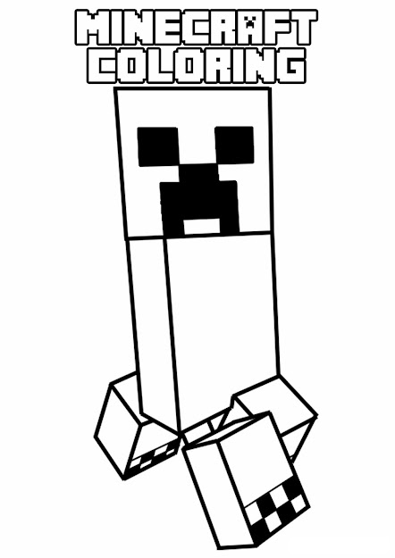 Pages  Minecraft Coloring Page  Funny Characterfrom The Gallery   Minecraft