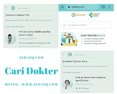 Aplikasi Cari Dokter SehatQ.com