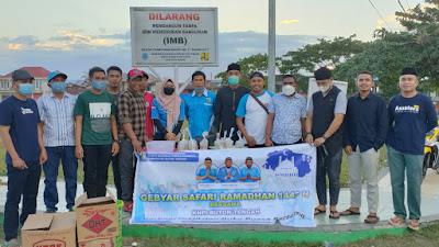 Safari Ramadhan dan Berbagi Takjil di Gelar KNPI Buteng
