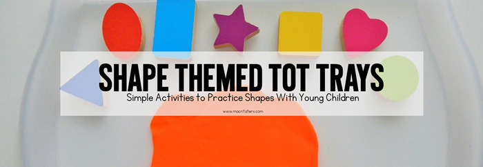 These shape themed tot school trays are great for fine motor practice for the littlest learners. Toddlers and preschoolers will enjoy learning their shapes with these hands on tot trays as part of tot school. So many great tot school ideas.