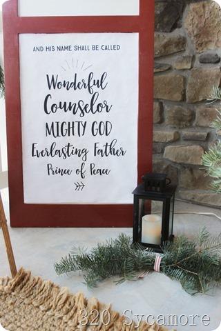 christmas sign lantern