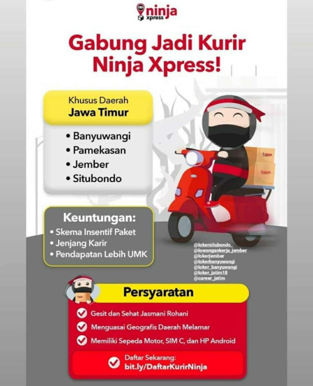 Lowongan Kerja Kurir Ninja Express Loker Sekitarku
