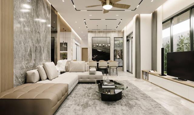 Một số mẫu thiết kế phòng khách phong cách hiện đại
