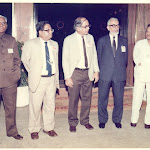 1987, 26th nov Dedication of CCMB Waiting to receive Rajiv Gandhi. K R Naraynayanan, MOS. A P Mitra, DGCSIR. pmb, MGK Menon, Sci Adv to PM. Ram Iyengar, CSIR.jpg