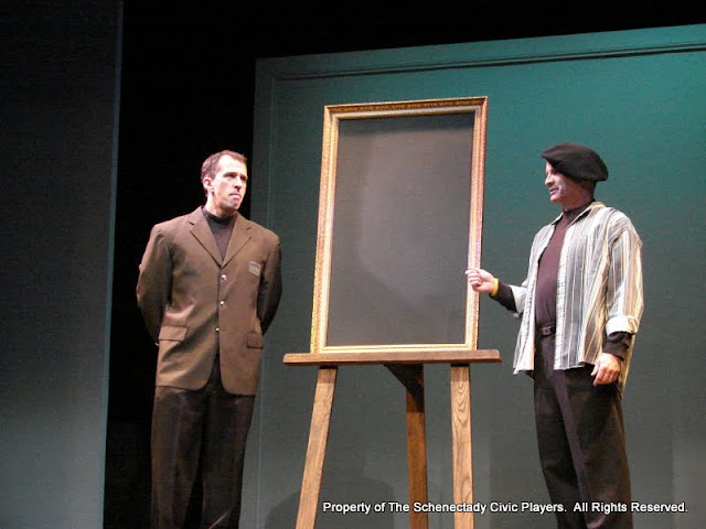 """Tim Orcutt and Marty O'Connor in """"Degas, C'est Moi"""" as part of THE IVES HAVE IT - January/February 2012.  Property of The Schenectady Civic Players Theater Archive."""