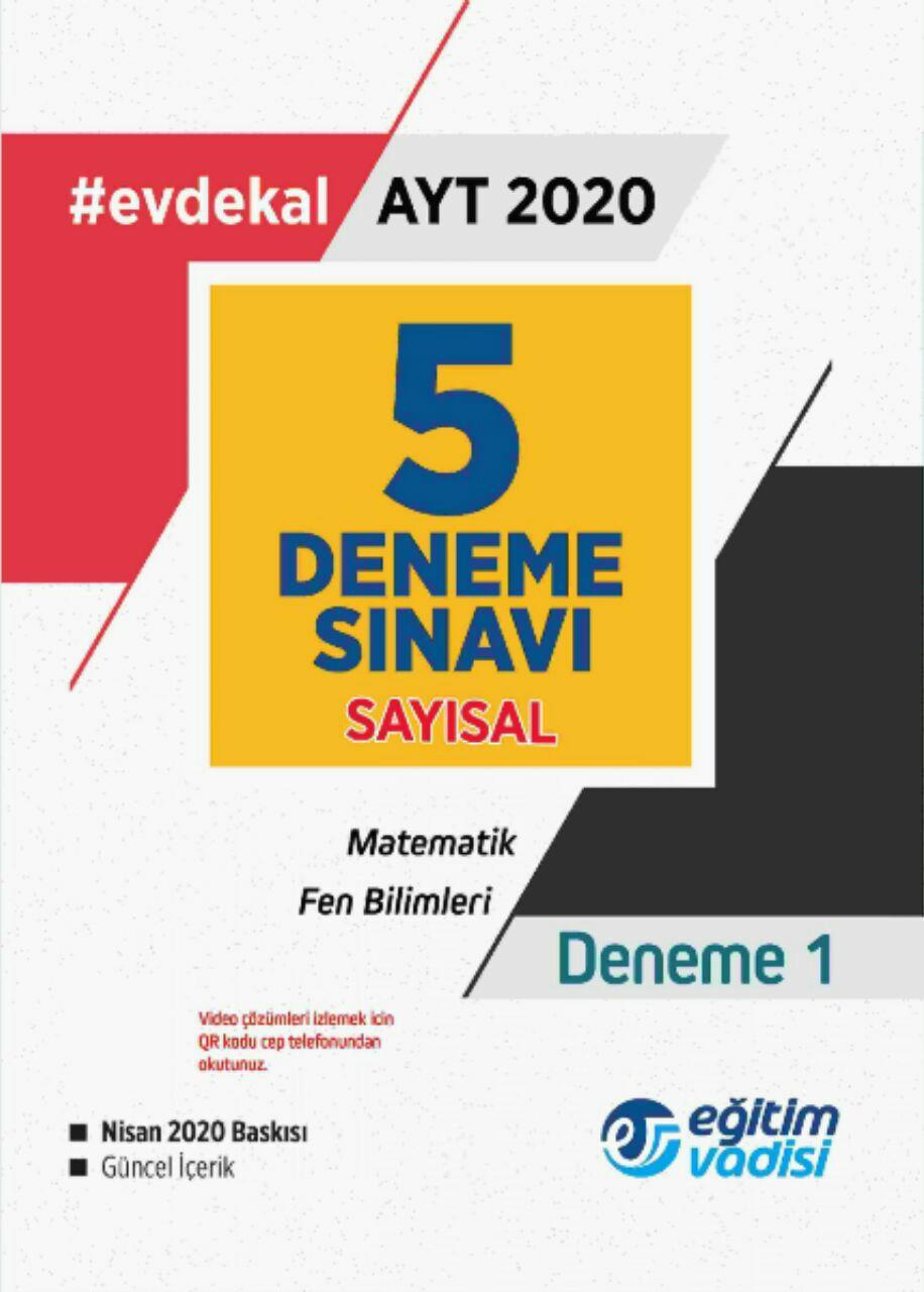Eğitim Vadisi Yayınları AYT Sayısal 5 Adet Deneme Sınavı