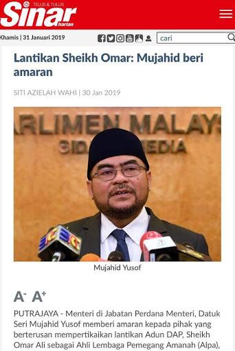 Mujahid Ugut Ummat Islam Malaysia?
