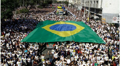 Our country belongs to Jesus; - 3 million evangelicals march in Brazil