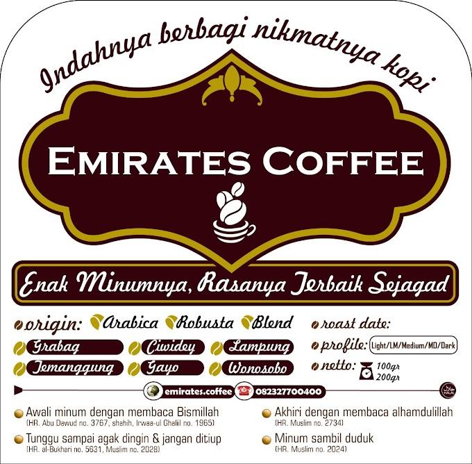 Emirates Coffee, Enak minumnya, Rasanya terbaik Sejagad