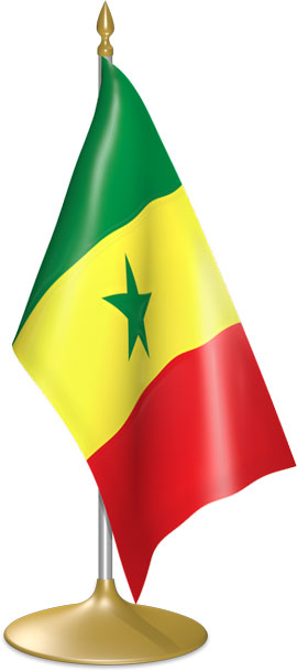 Senegalese table flags - desk flags