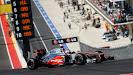 Jenson Button, McLaren MP4-27 turn 1 height