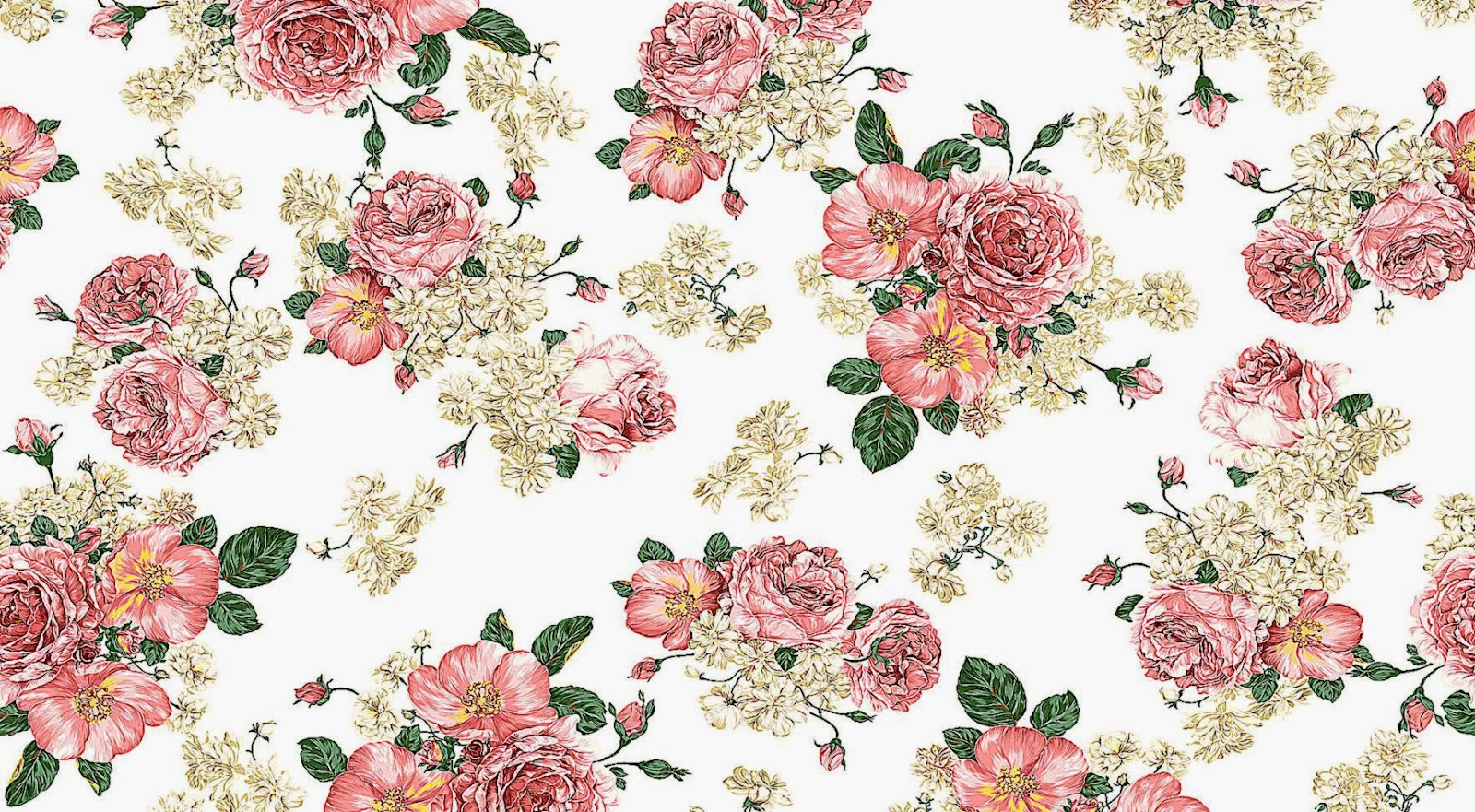 Flower Pattern Wallpapers Full Hd Wallpaper Search 1600x881