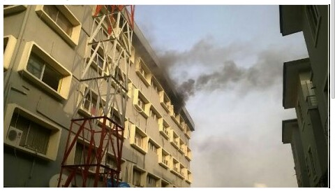 Wuraola House In Ikeja engulfed By Fire (Photos)