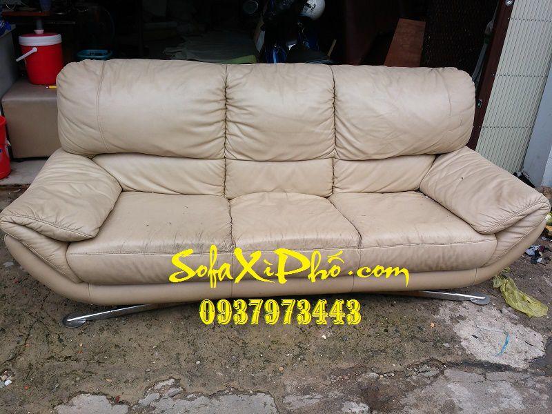 Bọc ghế sofa nhập khẩu - Sửa ghế salon da bò tại tphcm