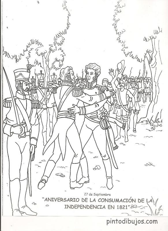 Dibujos de la consumación de la independencia para colorearDibujos de la consumación de la independencia para colorear