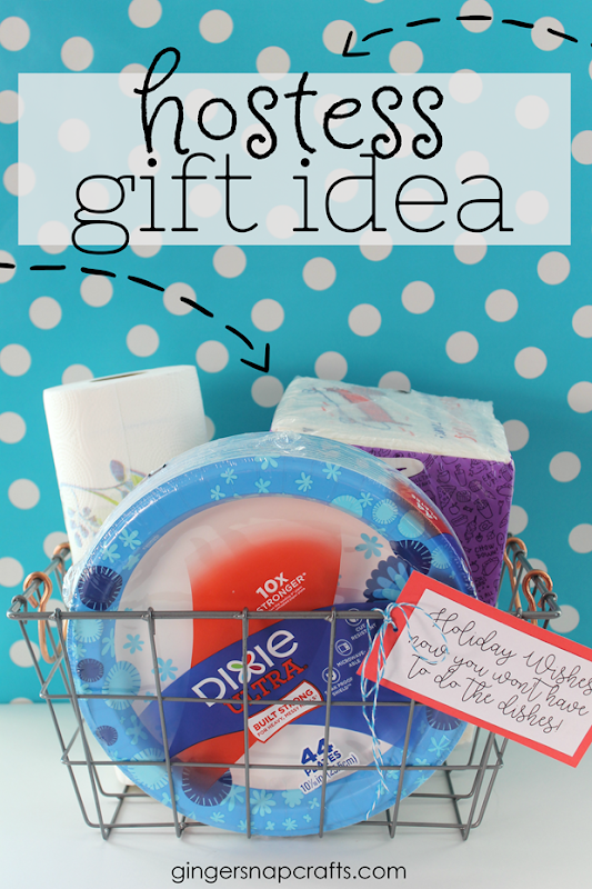 Hostess Gift Idea with Dollar General at GingerSnapCrafts.com #hostess #giftideas