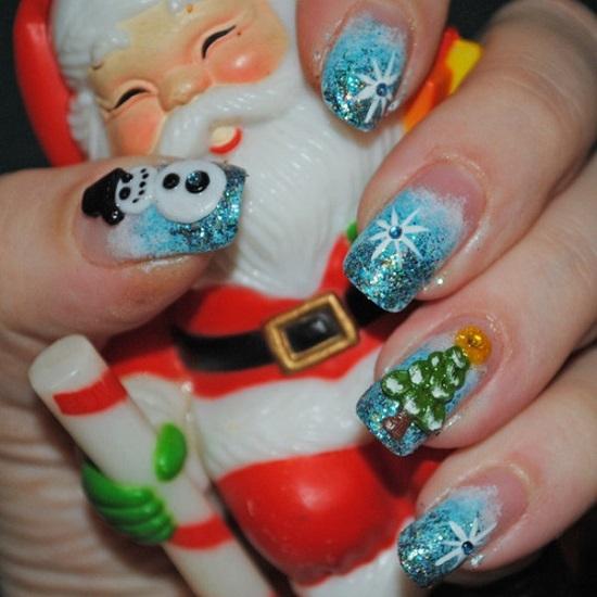 Top Santa Claus Nail Art Designs Pic Xmas Fashionte