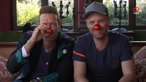 coldplay red nose1