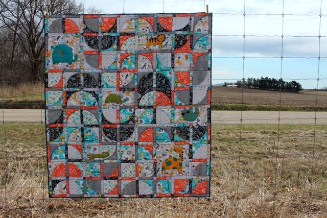 Bean Bag Jungle Quilt by Kim Lapacek