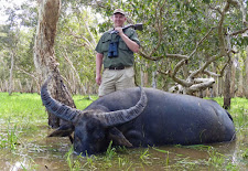 Martin Kroeger of Germany took this old bull on the edge of the flood plain during January with a 470 NE double rifle.