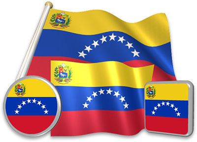 Venezuelan flag animated gif collection