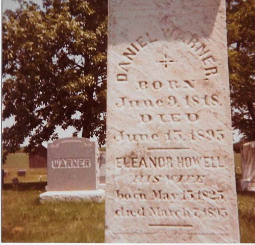 Warner Daniel Eleanor 1895 gravestone