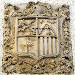 Piedra armera de los Domper de Erípol en Santa Liestra..