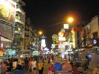 Khao San Rd - Backpacker mecca of Bangkok